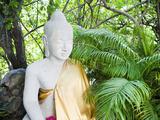 Stone Buddha in the Silver Pagoda at the Royal Palace  Phnom Penh  Cambodia  Indochina