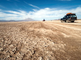 Four Wheel Drive Vehicles in Desert  Southwestern Bolivia  Bolivia