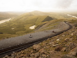 Snowdon Mountain Railway Near the Peak of Snowdon  Looking Towards Llanberis  Gwynedd  Wales  UK