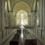 Nave of Abbey Church with Effigies of Plantagenet Monarchs  Fontevraud Abbey  Loire Valley  France