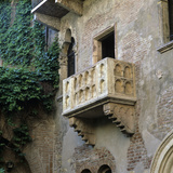Juliet's Balcony  Verona  UNESCO World Heritage Site  Veneto  Italy  Europe