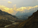 Marsyangdi River Valley and Annapurna Himalayan Range  Annapurna Conservation Area  Gandaki  Nepal