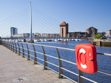Millennium Foot Bridge  Sa1 Area  Swansea Marina  Wales  United Kingdom  Europe