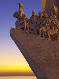 Monument to the Discoveries at Dusk  Belem  Lisbon  Portugal  Europe