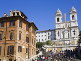 Piazza di Spagna and Spanish Steps  Rome  Lazio  Italy  Europe