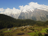 Dhaulagiri Himal Seen from Titi  Annapurna Conservation Area  Dhawalagiri (Dhaulagiri)  Nepal