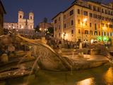 Spanish Steps and Trinita Dei Monti Church  Rome  Lazio  Italy  Europe
