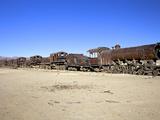 Rusting Old Steam Locomotives at the Train Cemetery (Train Graveyard)  Uyuni  Southwest  Bolivia