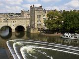 Pulteney Bridge and River Avon  Bath  UNESCO World Heritage Site  Avon  England  UK  Europe