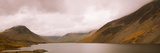 Wast Water with Scafell Pike and Great Gable in Cloud  Lake District Nat'l Park  Cumbria  England
