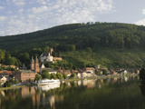 View across the River Main to Miltenberg  Bavaria  Germany  Europe