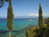 View Along Chrysochou Bay on North West Coast  Near Latsi  Cyprus  Mediterranean  Europe