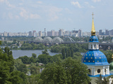 View of Vydubychi Monastery  Looking over Dnipro River  Kiev  Ukraine