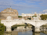 Vittorio Emanuelle Bridge and St Angelo Castle and National Museum  Rome  Lazio  Italy  Europe