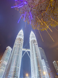 Low Angle View of the Petronas Twin Towers  Kuala Lumpur  Malaysia  Southeast Asia  Asia