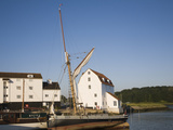 Tide Mill and Boat Moorings on the River Deben  Woodbridge  Suffolk  England  UK  Europe