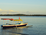 View of Gili Meno from Gili Air  Lombok  Indonesia  Southeast Asia  Asia