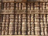Ornate Erotic Carvings on 13th Century Konarak Sun Temple  UNESCO World Heritage Site  India