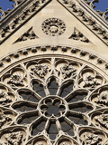 Rose Window on South Facade  Notre Dame Cathedral  Paris  France  Europe