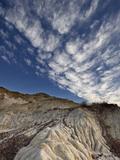 Badlands with Clouds  Dinosaur Provincial Park  UNESCO World Heritage Site  Alberta  Canada