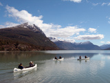 Canoeing at Tierra del Fuego National Park  Near Ushuaia  Argentina  South America