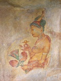 Sigiriya Damsels/Cloud Maidens  Sigiriya Lion Rock Fortress  UNESCO World Heritage Site  Sri Lanka