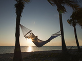 Woman on a Hammock on the Beach  Florida  United States of America  North America