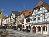 The Main Street  Merianstrasse  in the Rhine Wine Area of Oppenheim  Rhineland Palatinate  Germany