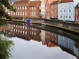Quayside Buildings Reflected in the River Wensum  Norwich  Norfolk  England  United Kingdom  Europe
