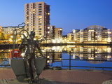 Miner Statue  Cardiff Bay  South Wales  Wales  United Kingdom  Europe