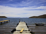Jetty at Challapampa  Isla del Sol  Lake Titicaca  Bolivia  South America