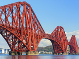 Forth Rail Bridge over the Firth of Forth  South Queensferry Near Edinburgh  Lothian  Scotland