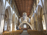 Interior  Llandaff Cathedral  Llandaff  Cardiff  Wales  United Kingdom  Europe
