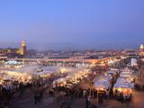 Food Stalls  DJemaa el Fna  Marrakech  Morocco  North Africa  Africa