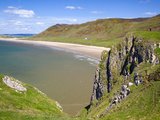Rhossili Bay  Gower Peninsula  Wales  United Kingdom  Europe