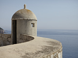 A Lookout Post Fortification with a View of the Adriatic Sea  on the City Wall  Dubrovnik  Croatia