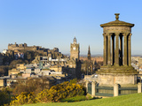 Edinburgh Cityscape from Calton Hill  Edinburgh  Lothian  Scotland