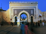 Blue Tiled Archway of the Bab Bou Jeloud City Gate to Medina  Fez  Middle Atlas  Morocco  Africa