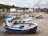 Beached Fishing Boat in the Harbour at Stonehaven  Aberdeenshire  Scotland  United Kingdom  Europe