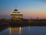 The Ak Orda  Presidential Palace of President Nursultan Nazarbayev at Dawn  Astana  Kazakhstan
