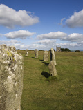 The Hurlers (Stone Circle)  Minions  Bodmin Moor  Cornwall  England  United Kingdom  Europe
