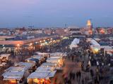 Restaurant Stalls  DJemaa el Fna  Marrakech  Morocco  North Africa  Africa