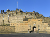 Entrance to Edinburgh Castle under Clear Blue Sky  Edinburgh  Lothian  Scotland