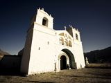 White Chapel High Up on the Sides of Colca Canyon  Arequipa  Peru  South America