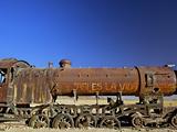 Rusting Old Steam Locomotive at the Train Cemetery (Train Graveyard)  Uyuni  Southwest  Bolivia