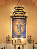 Wall Painting in Mission Concepcion  San Antonio  Texas  United States of America  North America