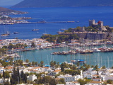 The Harbour and the Castle of St Peter  Bodrum  Anatolia  Turkey  Asia Minor  Eurasia