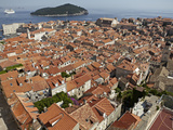 The Rooftops of the Walled City of Dubrovnik  UNESCO World Heritage Site  Croatia  Europe