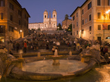 Spanish Steps and Trinita Dei Monti Church  Rome  Lazio  Italy  Europe