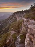 Sunset at Locust Point  Grand Canyon Nat'l Park  UNESCO World Heritage Site  Arizona  USA